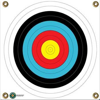 Arrow Mat Target Face 5 Color Bullseye
