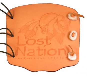 Lost Nation Logo Armguard tan