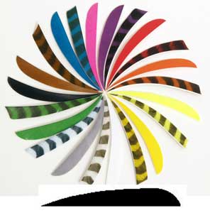 Feathers Trueflight 5 inch Parabolic solid colors