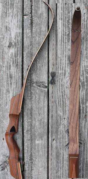 Hill Country Wildcat SL 3 Piece Takedown, Static Recurve Limbs, 62inch 48lb Right Hand